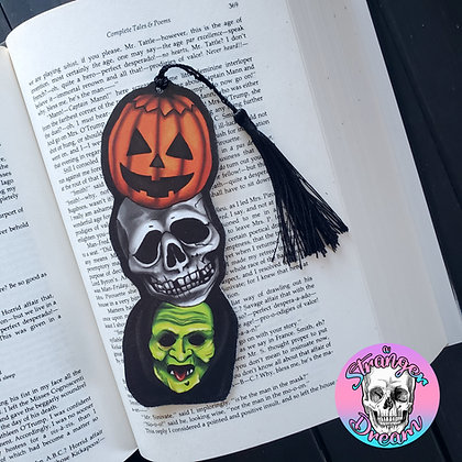 Halloween Masks - Double Sided Bookmark