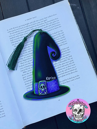 Witch Hat - Double Sided Bookmark with Tassel