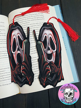 Ghost Face - Double Sided Bookmark with Tassel - Two Different Sides!