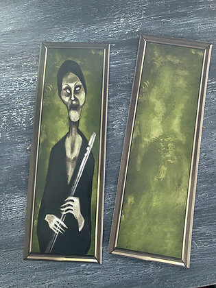 Clearance! Flute Lady - Double Sided Bookmark - Two Different Sides