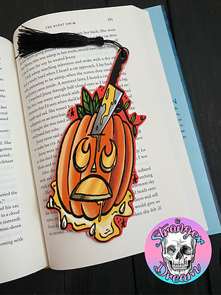 Carving Pumpkins - Double Sided Bookmark
