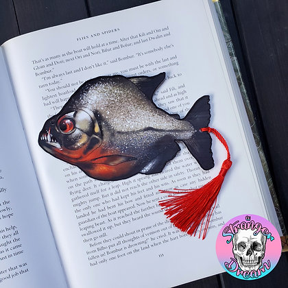 Piranha - Double Sided Bookmark