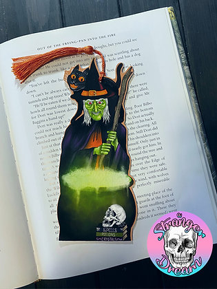Witch & Cauldron - Double Sided Bookmark