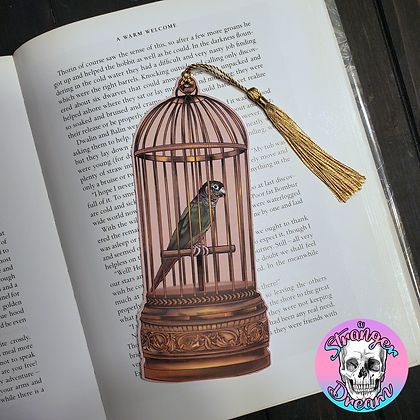 Antique Birdcage - Double Sided Bookmark
