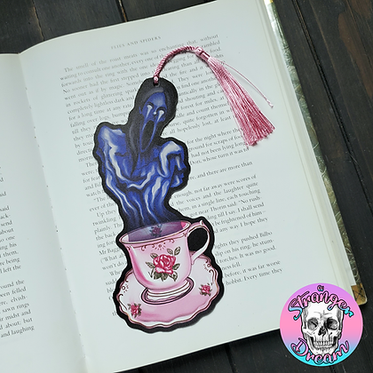 Teacup Ghost - Double Sided Bookmark