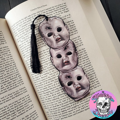 Creepy Baby Heads - Double Sided Bookmark
