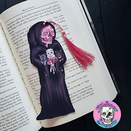 Cat Mom Reaper - Double Sided Bookmark