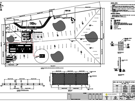 Site plan of Peru's first small-scale LNG facility