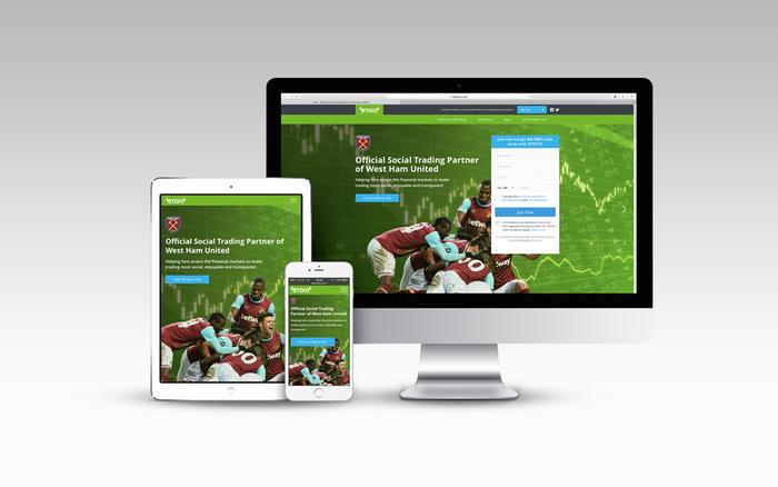Etoro partnerships website with West Ham