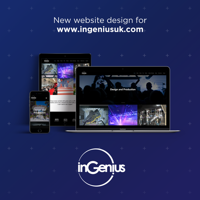 Logo and website design for InGenius