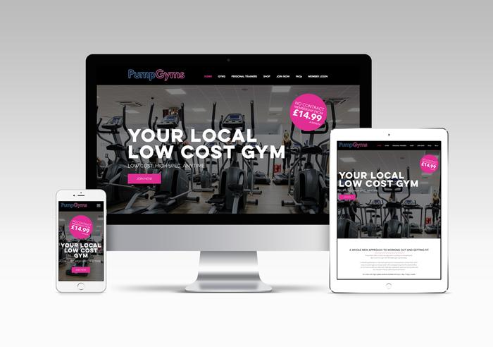 Pump Gyms New Website Design