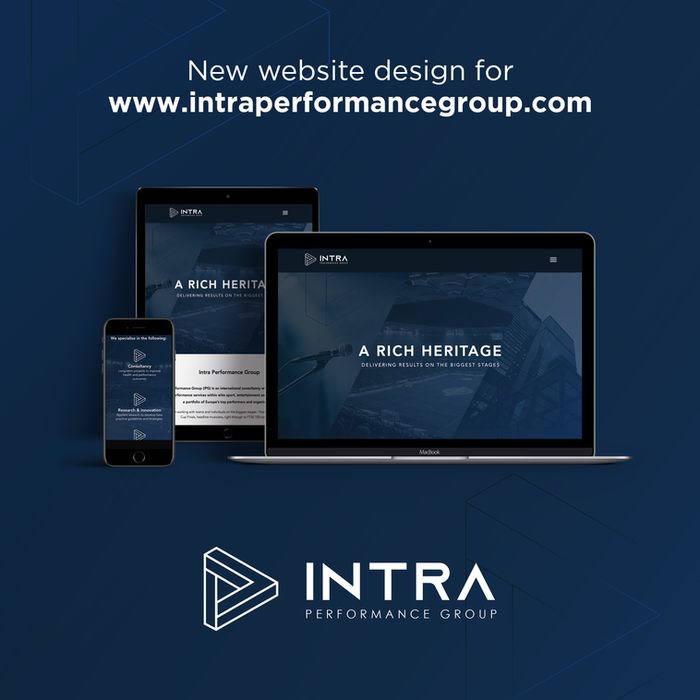 Logo and website design for Intra Performance Group