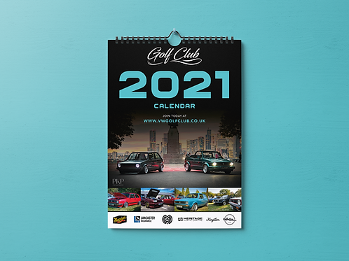 2021 Golf Club Calendar