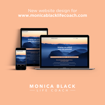Website design for Monica Black Life Coach