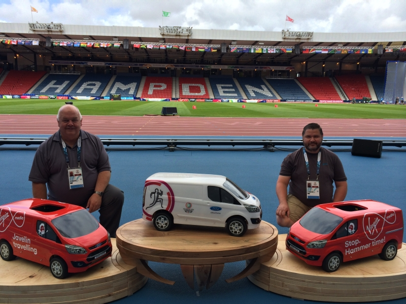 Founders-of-Novus-models-Commonwealth-Games-5th-scales-Ford-Transit-Virgin-Media