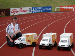 National-Official-reviewing-Sainsburys-models-at-the-Diamond-League-Birmingham-2013