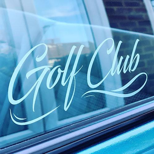 Golf Club car window sticker