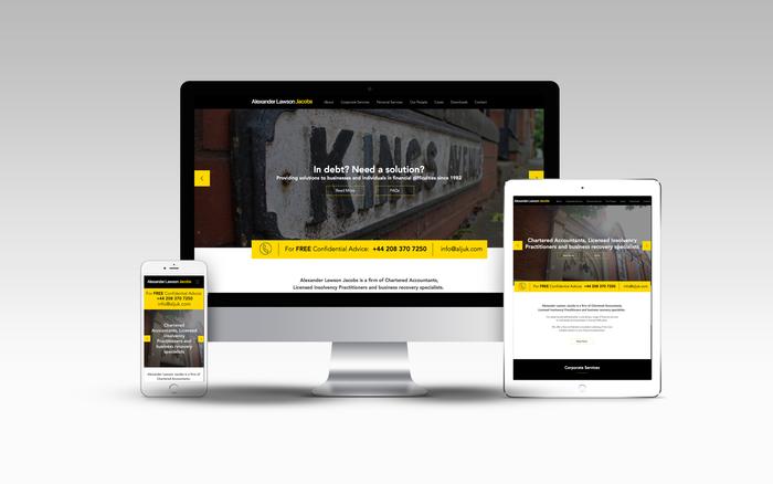 New website design for Alexander Lawson Jacobs