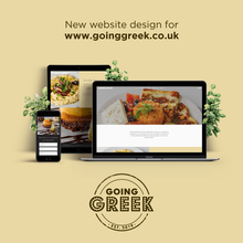 Logo and website design for Going Greek