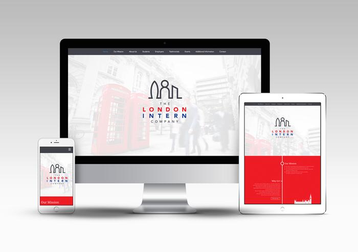 The London Intern Company Website Design