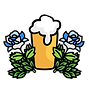 logo - pint, hops and white roses