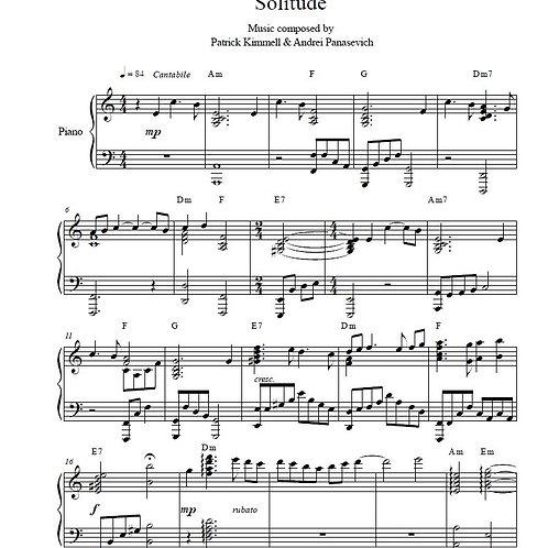 Solitude - Piano Score Download