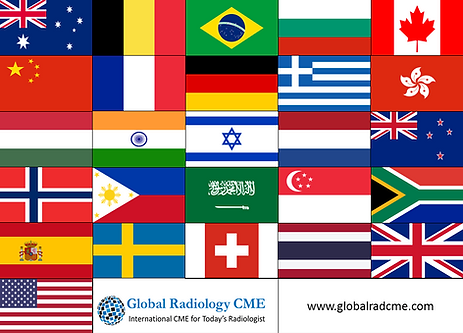Country flags for Global Radiology CME CPD