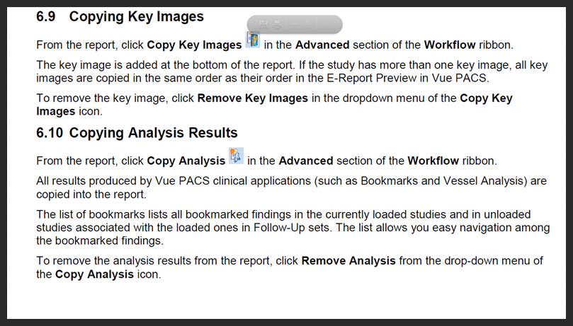 Add Key Images to Carestream Reports