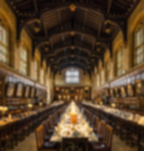 The great hall of Cristchurch College at Oxford University