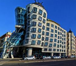 Prague dancing building