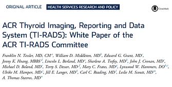 TI RADS White Paper