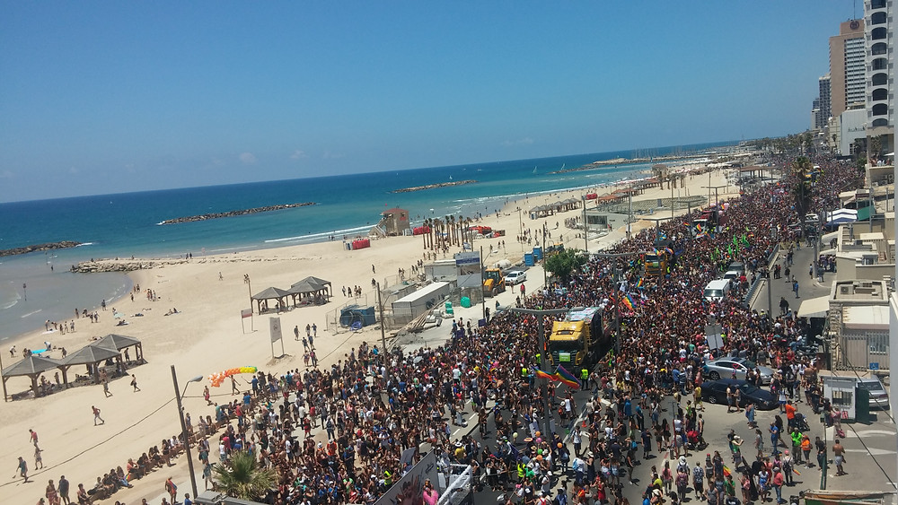 Parade in Tel Aviv June 2015-Photo by Kevin Rice