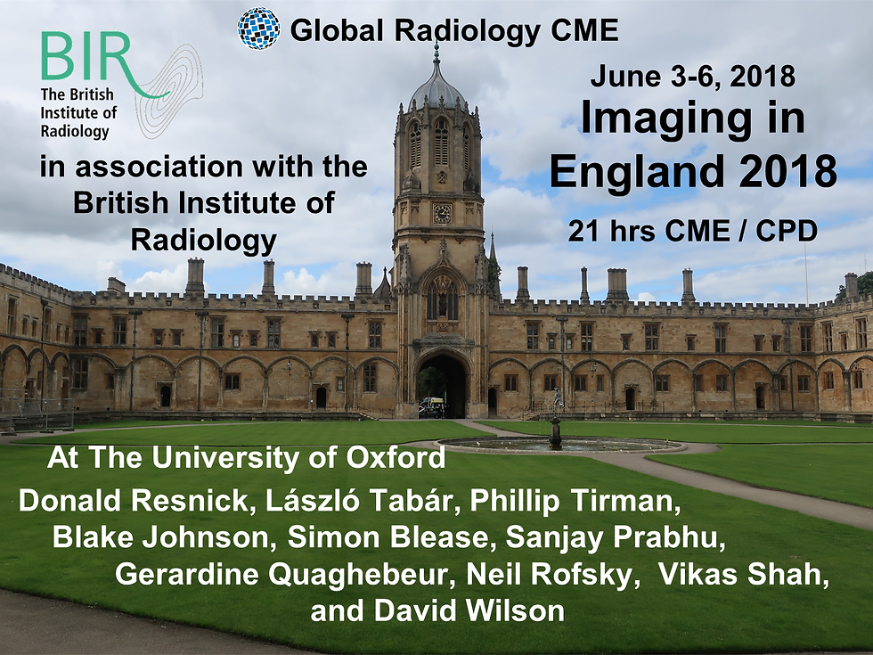 Imaging in England 2018 Global Radiology CME CPD