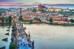 Prague- Charles Bridge Arial View