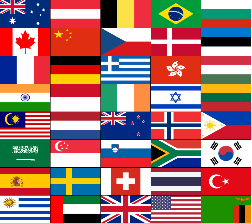 Imaging in England 2018 Attendees Flags