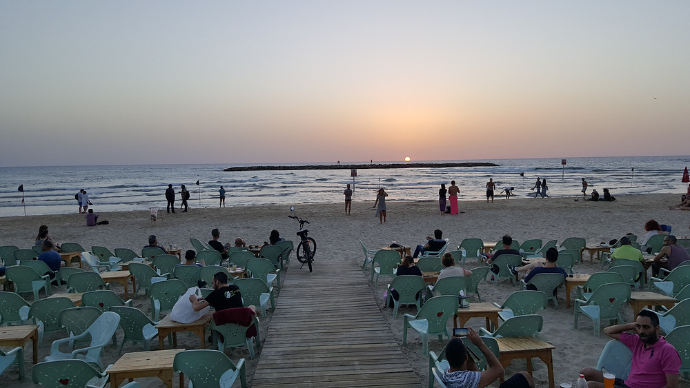 Watching the Sunset in Tel Aviv - Photo by Kevin Rice
