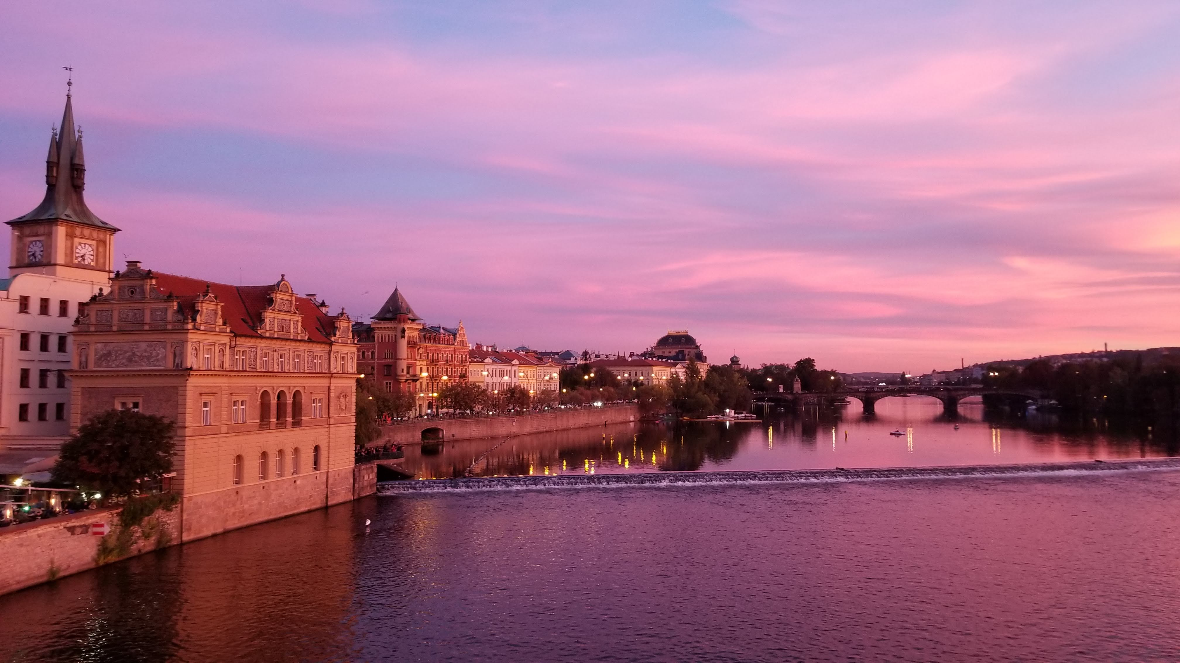 Sunset at Charles Bridge by K. Rice