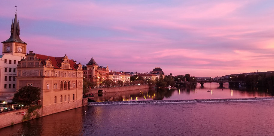 Sunset at Prague Charles Bridge- by Kevin Rice