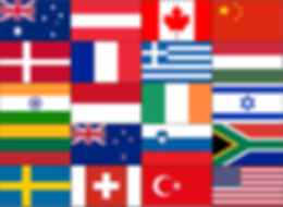 Country Flags for Global Radiology CME