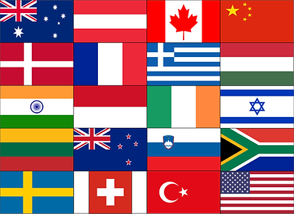 Flags of Countries represented at Imaging in Israel