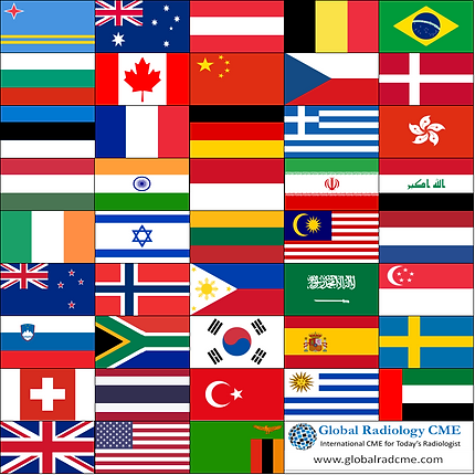 Country Flags Global Radiology CME