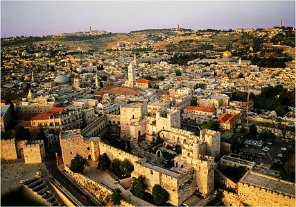 Jerusalem-Arial View with Old City