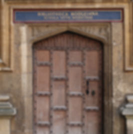 Door to ancient Medical Scool at Oxford, UK. Imaging in England 2018