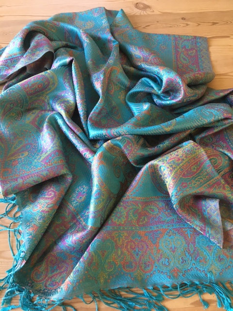 Indian super silk jacquard stole