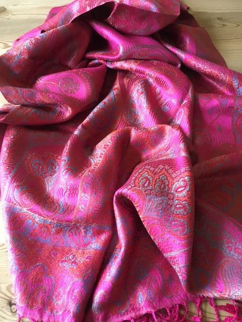 Super silk jacquard stole
