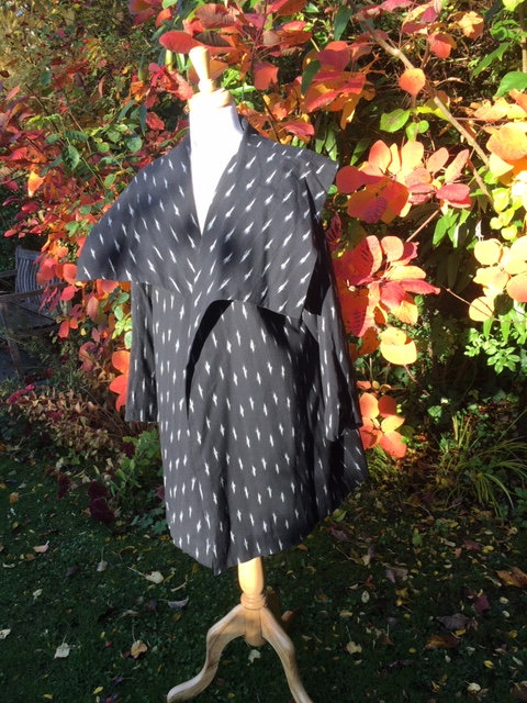 Cotton Ikat swing coat