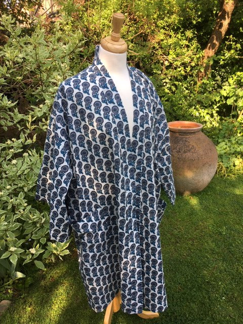 Comfortable cotton dressing gown