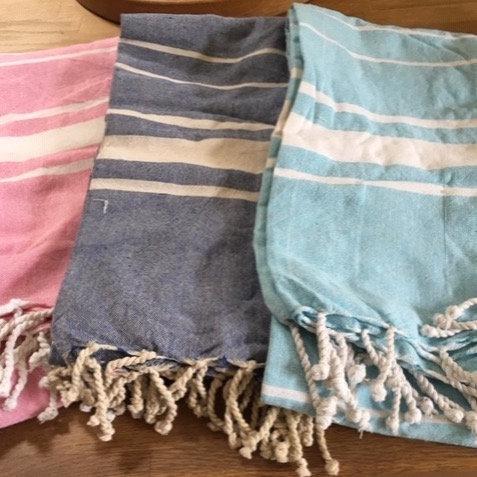 Woven cotton towel