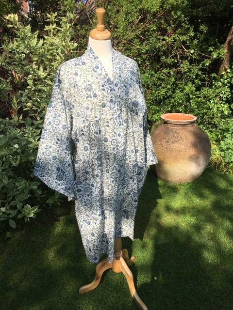 Comfortable cotton dressing gown.