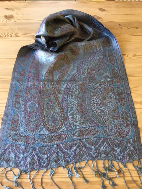 Super silk jacquard scarf